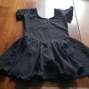 Other - 5/$25 Black skater skirt leotard with snaps